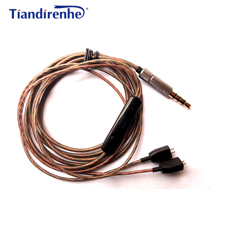 DIY MMCX Cable for Logitech UE tf10 tf15 5pro sf3 sf5 Earphone Headset Replaceable 32 Cores Copper Wire Line for Android IOS mp3