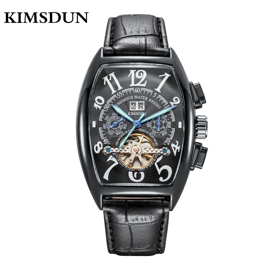 KIMSDUN Skeleton Automatic Watch Men Famous Tourbillon Top Brand Mens Mechanical Watches Luxury Luminous Relogios MasculinosKIMSDUN Skeleton Automatic Watch Men Famous Tourbillon Top Brand Mens Mechanical Watches Luxury Luminous Relogios Masculinos