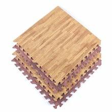 Soft EVA Foam puzzle crawling mat Imitation wood grain playmat waterproof rug for kids living room 30x30cm