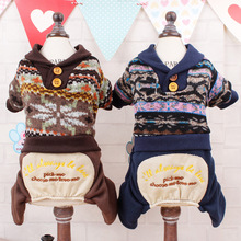 Dog Clothes Snowflake Jumpsuits Hoodies Parkas Sweaters Spring Summer Clothes For Small Dogs Free Shipping-B