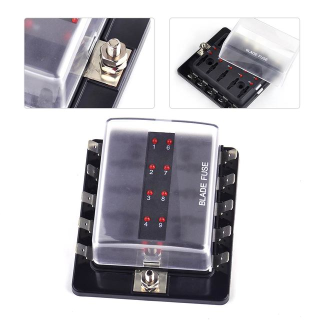 citall car boat 10 way circuit automotive atc ato fuse box holder w rh aliexpress com 2012 Audi A4 2014 Audi A4