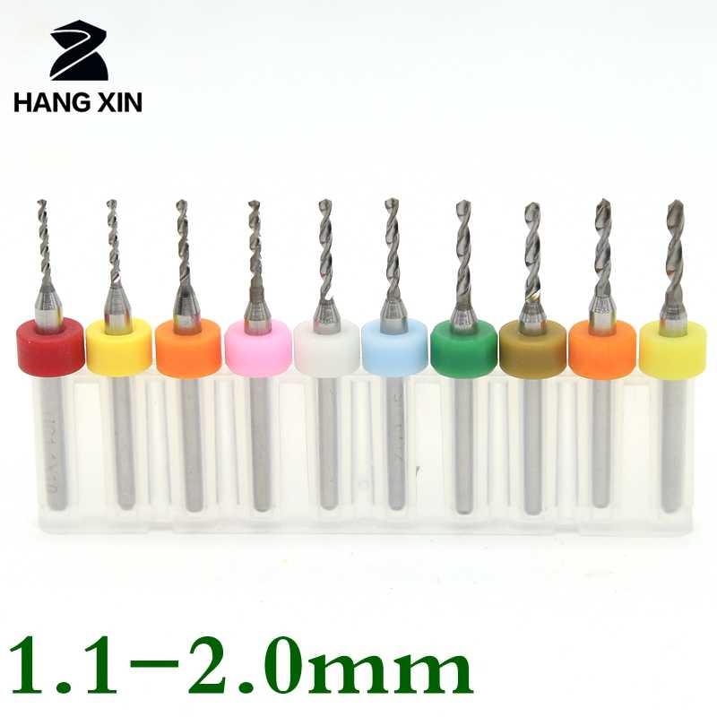 1.8mm Tungsten Carbide CNC Engraving Print Circuit Board PCB Drill Bits 10 Pcs