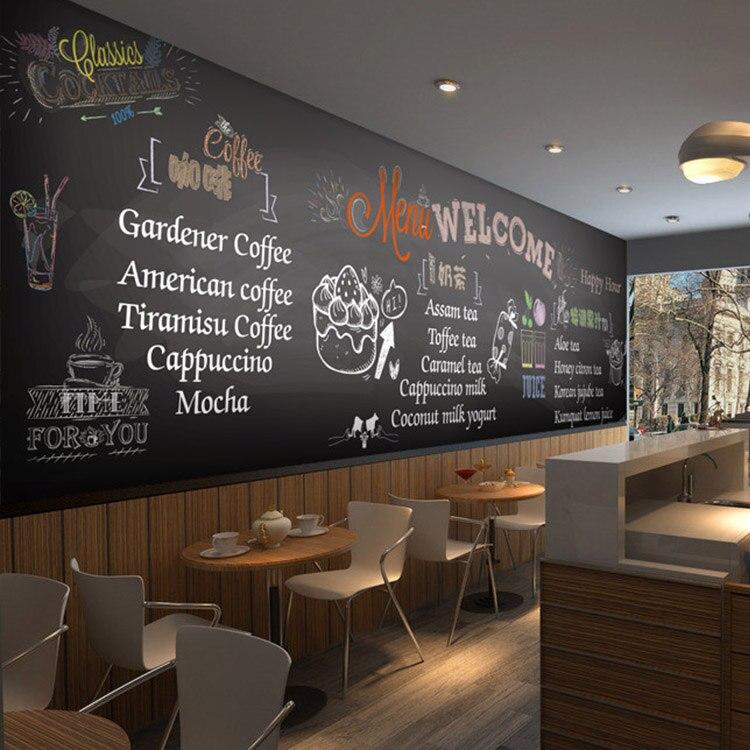 Tafel Tapete benutzerdefinierten wandbild 3d tafel graffiti tapete cafe