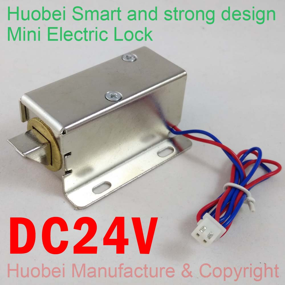 Free Shipping Small Electronic Door Lock DC24V Electric Locks Cabinet Locks  Drawer Small Electric Lock Access Control System In Access Control  Accessories ...