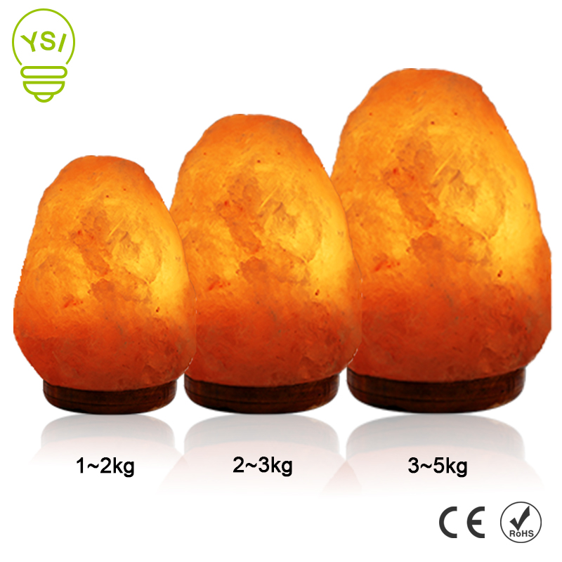 EU/US Plug Air Purifier Night Salt Light Natural Shape Salt Lamp Relieving Stress Himalayan Crysta Salt Rock Lamp For Homes