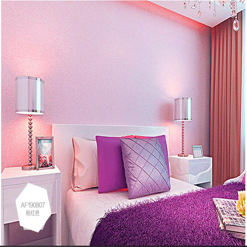 wellyu Wallpapers pvc silk plain color home furnishing backdrop hotel hotel works wallpaper 10 meters creative section