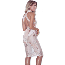 Womens Sexy Elegant Deep V Neck Embroidery Business Party Club Clubwear Sleeveless Sheath Pencil Fitted Sequins Dress With Belt