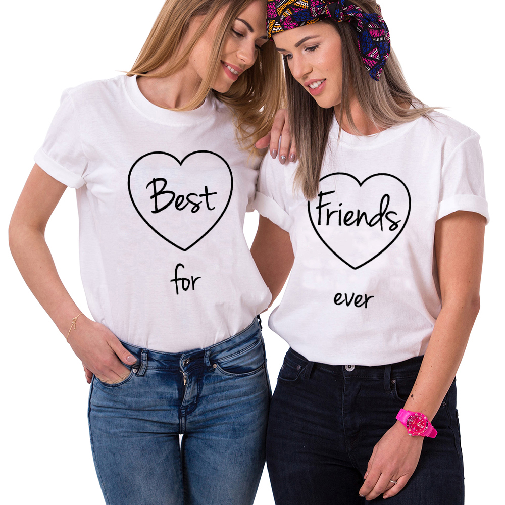 Tops & Tees Men's Clothing Best Friend Forever Bff T-shirt Unisex The Hottest T-shirt In The World