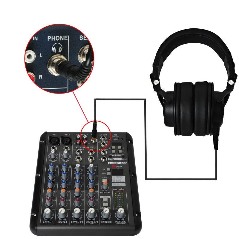 Freeboss MDH9000 Monitor Headphones with 50mm Drivers Single-side Detachable cable RMV6 DJ Mixer Audio Mixer freeboss mdh9000 monitor headphones with 50mm drivers single side detachable cable smr6 dj mixer audio mixer