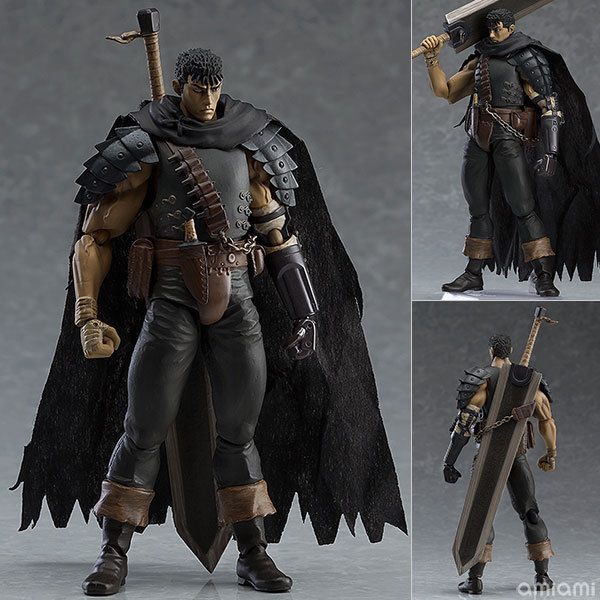 Game Berserk Figma 359 Figure Anime Guts Black Swordsman Ver Repoint Edition PVC Action Figures Model Collection Toys in Action Toy Figures from Toys Hobbies