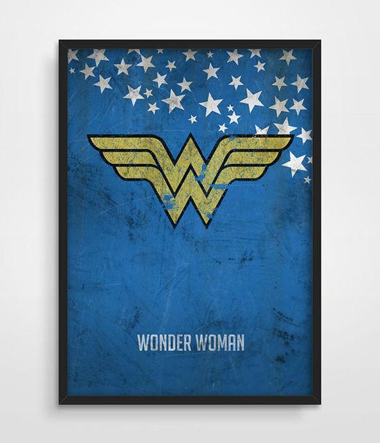 Wonder Woman Poster Superheroes Wall Art Poster Distressed Art Print DC  Comics Superhero Art Print Bedroom