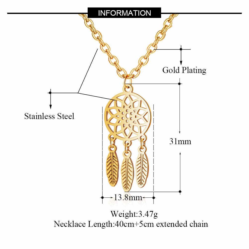 Jakość AAAAA 100% ze stali nierdzewnej Boho Dream Catcher czechy naszyjnik dla kobiet nigdy nie niszczą biżuteria naszyjnik wysokiej polski