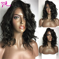 8A Grade Short Lace Front Wigs Human Hair Short Bob Wavy Full Lace Wigs For Black Woman Side Part Brazilian Lace Front Bob Wigs