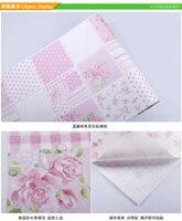 NOUVEAU enfants bébé Gommage rose fleurs pvc vinyle chambre papier peint écologique étanche fille chambre d'enfant stickers muraux auto-adhésif