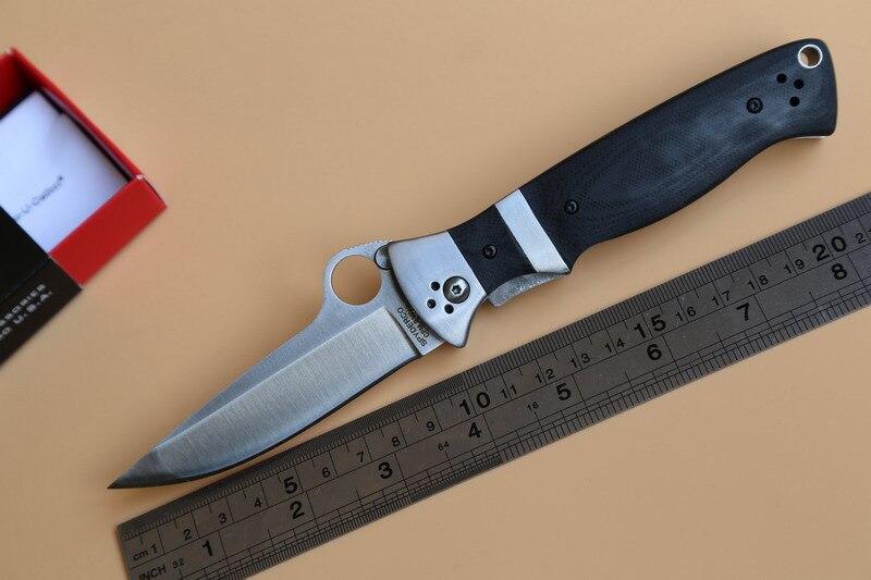 Best price FULE OEM SPYDER C149 Folding font b Knife b font G10 steel Handle CPM