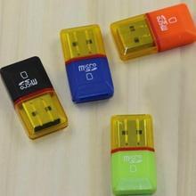 Горячий 2 ПК USB 2.0 Mini Micro SD TF Card Reader Adapter Memory T-Flash Card Reader