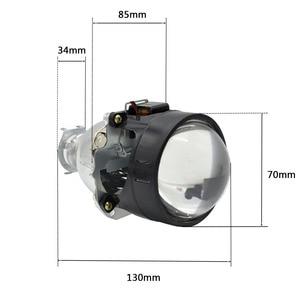 Image 5 - 2pcs 2.5 inch Hid Bi xenon Projector Lens Shroud 35W 5000K Xenon Ballast Bulb Car Assembly Kit Fit for h1 h4 h7 Car Model Mofify