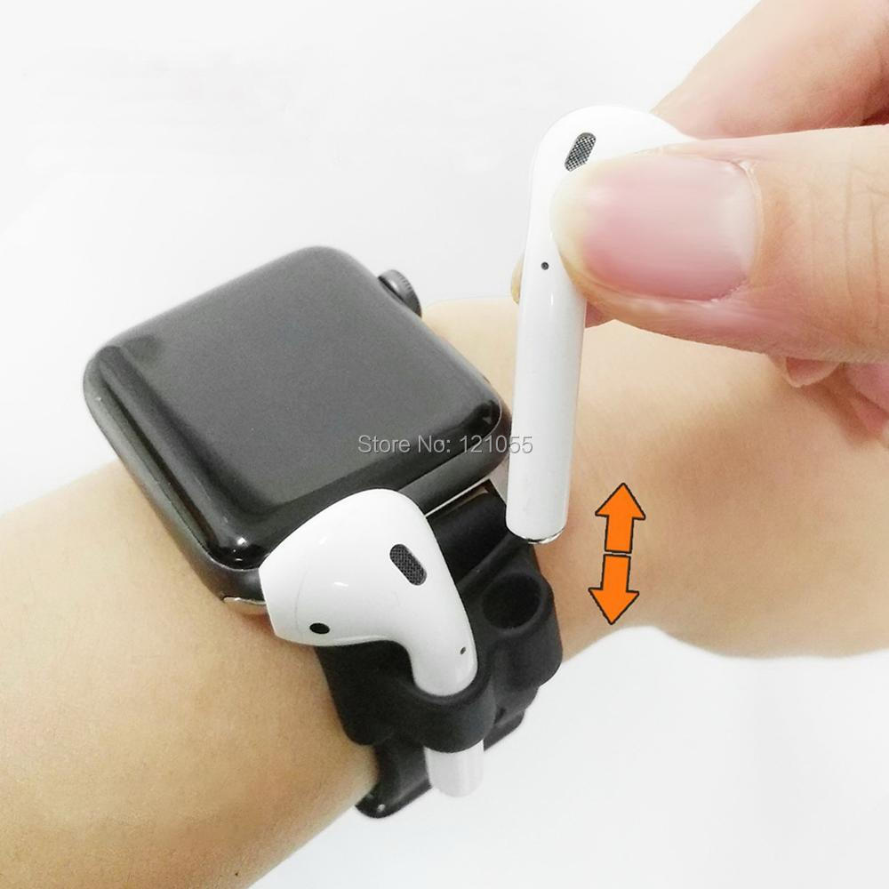 AirPods Holder for Apple wireless earphone case for Apple watch band clip sport headphone hook Anti lost Accessory 10pcs LOT in Earphone Accessories from Consumer Electronics