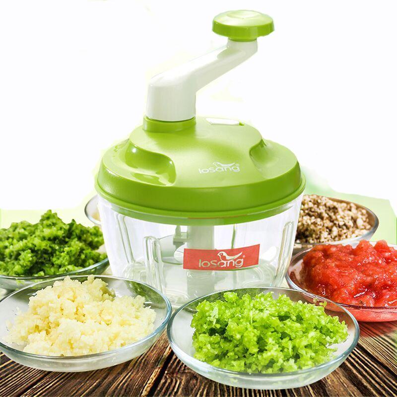 Essential Kitchen Tools Onion Vegetable Chopper Hand Speedy Chopper Vegetable Fruits Chopped Shredders & Slicers KT-1002