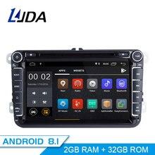 LJDA 2 Din Android 8.1 Car DVD player For Volkswagen Skoda Passat B6/B7/CC Polo Golf Sharan Caddy Bora Car GPS Radio Multimedia