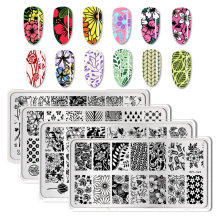 BORN PRETTY Nail Stamping Plates Flower Geometry Nature Series Nail Template Stamp Image Manicure Stamp Plate DIY Nail Designs(China)