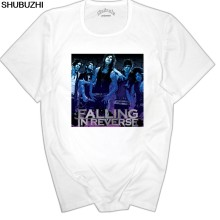 Katoen Falling In Reverse Druipen Lippen T-shirt Rock Band Ronnie Radke Ontwerp Tops Soft Tee euro maat(China)