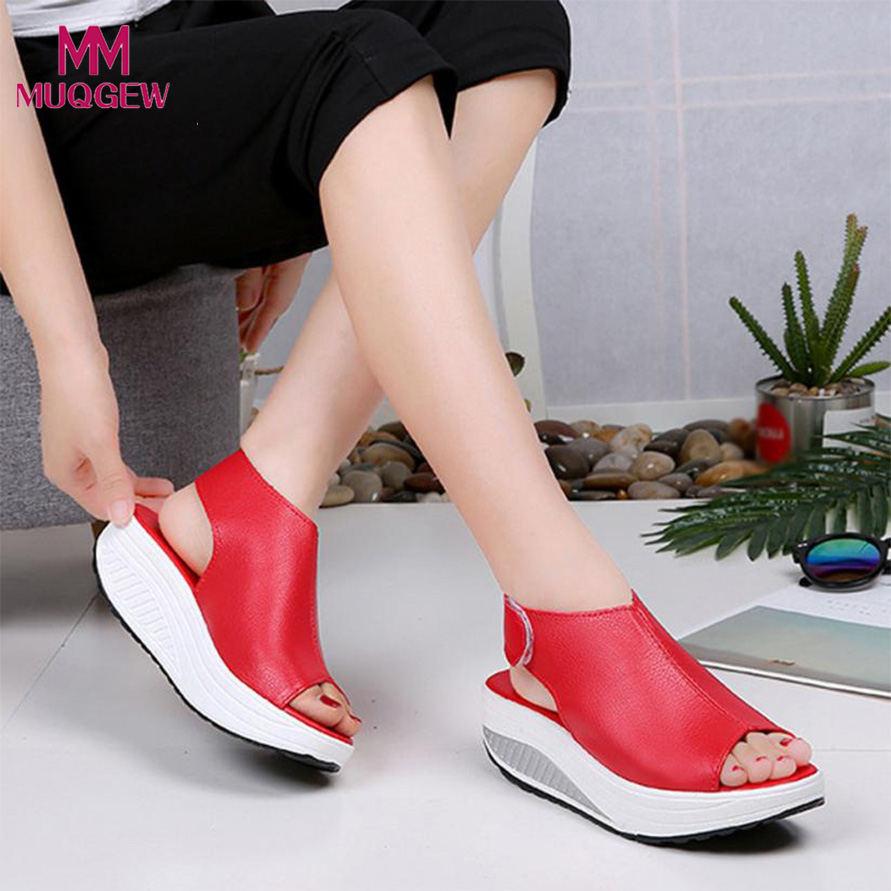 a39ae497299568 Detail Feedback Questions about Fashion Women Shake Shoes Summer Sandals  Fish mouth Thick Bottom Higt Heel Shoes Indoor Outdoor Casual Sandals Soft  Shoes on ...