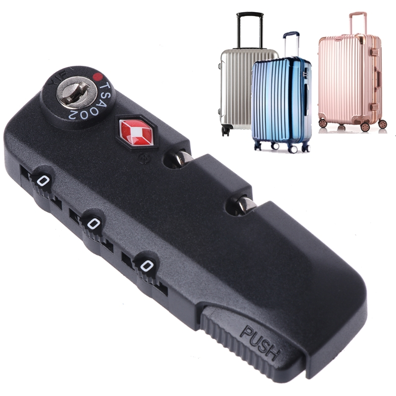 High quality 2018 New 3 Digit Combination TSA Secure Padlock Lock Luggage Suitcase Travel Code Lock