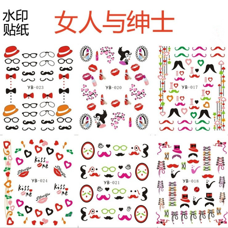 Free shipping 10 pieces wholesale water decals water transfer printing nail stickers nail art hot selling in stickers decals from beauty health on