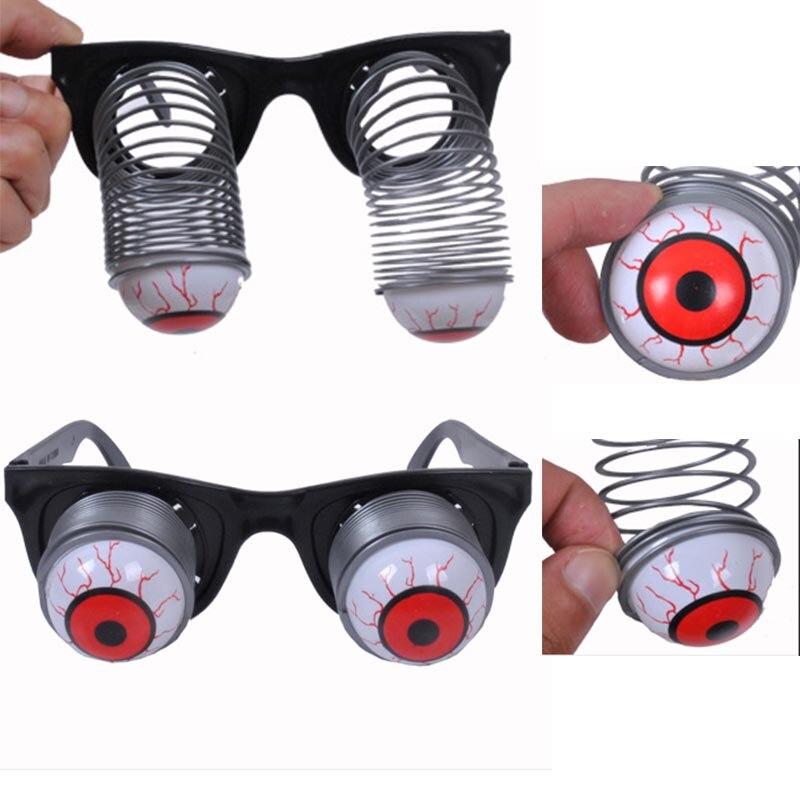 6bc4f0b25 Diversão Adulto Crianças Plastic Horror Joke Choque Horror Pop Olhos Óculos  Partido Do Carnaval de Halloween Natal Ano Novo