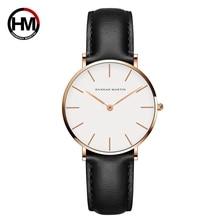 цена на Montre femme Dropshipping Japan Quartz Simple Women Fashion Watch Leather Strap Ladies Wrist Watches Waterproof Wristwatch
