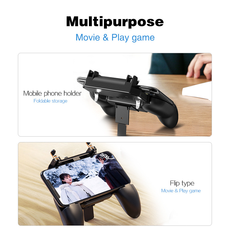 Image 4 - L1R1 Game Shooter Mobile Phone Gamepad Game Joystick Controller Ultra Portable Grip Holder With mute heat dissipation fan-in Gamepads from Consumer Electronics
