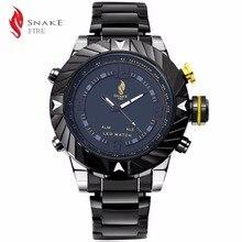 Deporte Relojes Hombres Marca de Lujo de Acero Correa de Los Hombres Relojes Militares Reloj Masculino LLEVÓ el Reloj Luminoso Digital Relogio Masculino2016