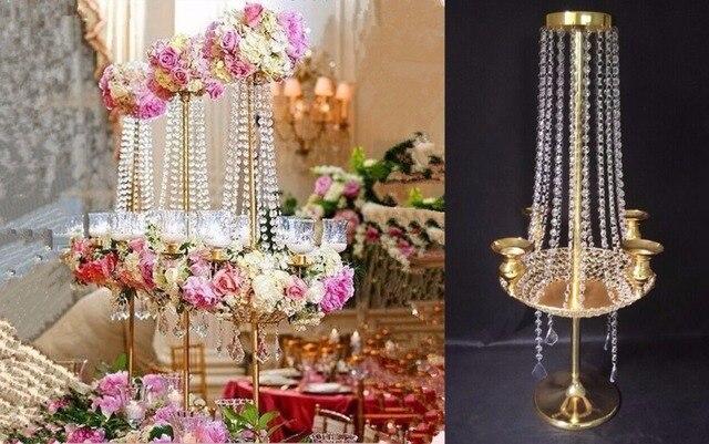 90cm H Wedding Crystal Table Centerpiece Chandelier Flower Stand Banquet Decoration