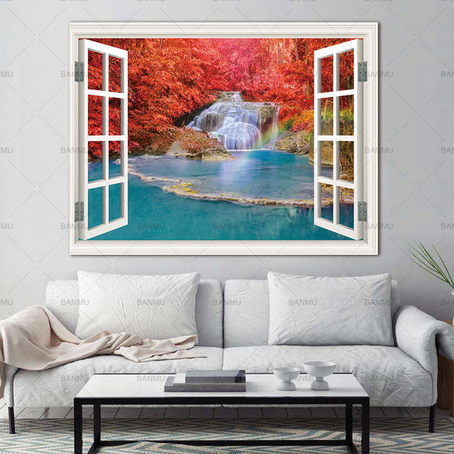 Wall Art Picture prints on Trees Outside the Window  home decor Canvas painting Wall poster decoration for living room no frame