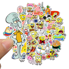 50Pcs/Pack SpongeBob Stickers Cartoon Graffiti Pegatinas For Motorcycle Notebook Laptop Luggage Bicycle Skateboard