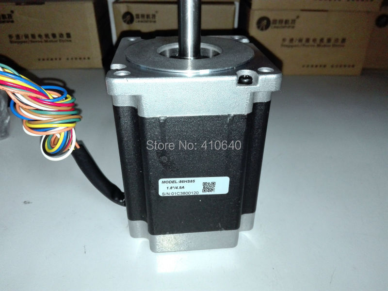 Free Shipping GENUINE Leadshine 86HS85 2 Phase NEMA 34 Hybrid Stepper Motor with 6 N.m 4.9 A length 118 mm shaft 12.7 mm free shipping genuine leadshine 110hs28 phase nema 42 hybrid stepper motor with 28 n m 6 5 a length 201 mm shaft 19 mm
