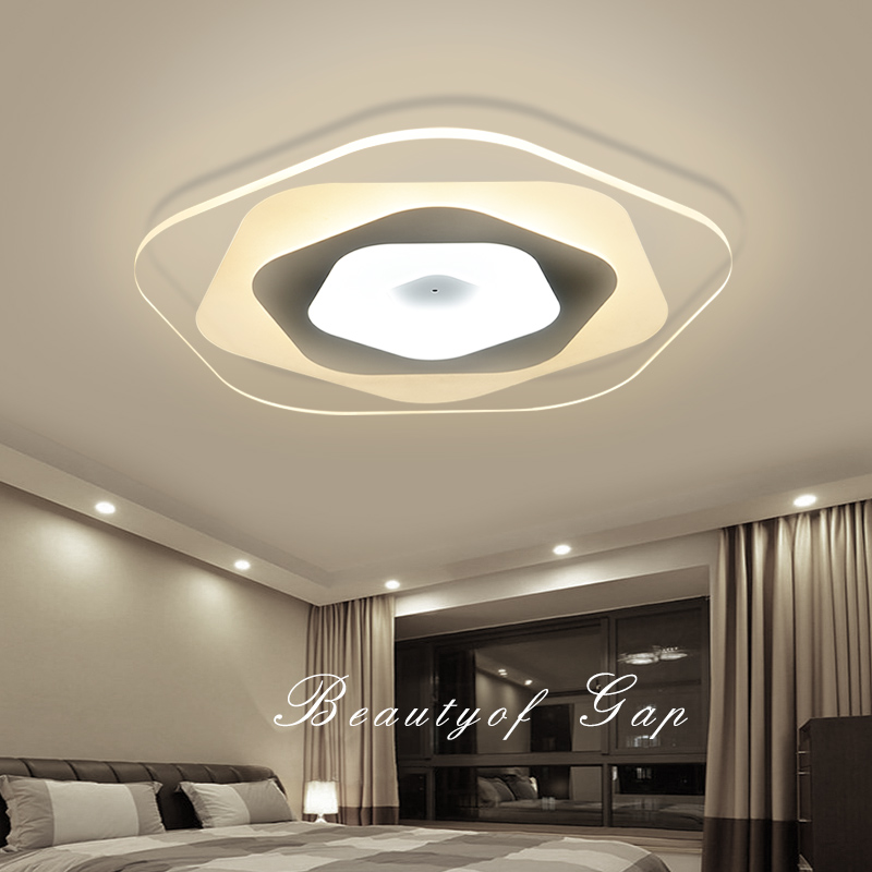 US $26.95 30% OFF|new acrylic ceiling light modern bedroom ceiling lighting  ultra thin led ceiling lamps for study room/balcony-in Ceiling Lights from  ...