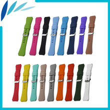 Silicone Rubber Watch Band 22mm for Fossil Stainless Steel P