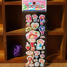 10 Pcs Exquisite Cartoon Bubble Stickers Baby Stickers Children Learn Cognitive Develop Intelligence Sticker Random Sent