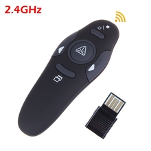 2.4GHz USB Wireless Presenter with Red Laser Pointers Pen RF Remote Control universal PowerPoint PPT Presentation Mouse Helper