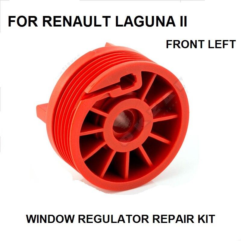 WINDOW REGULATOR ROLLER REPAIR KIT FOR RENAULT LAGUNA 2 II FRONT LEFT NEW
