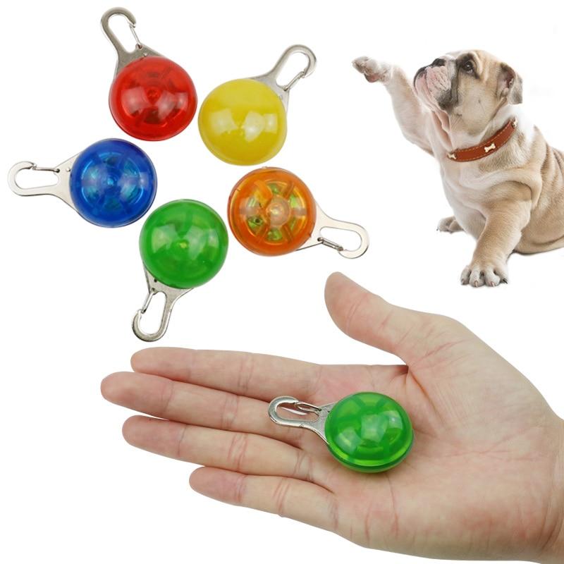 Pet светодиодный ночь безопасности вспышки света Для ошейник собака воротник светодиодный светящиеся воротник аксессуары Поставка кнопочн...