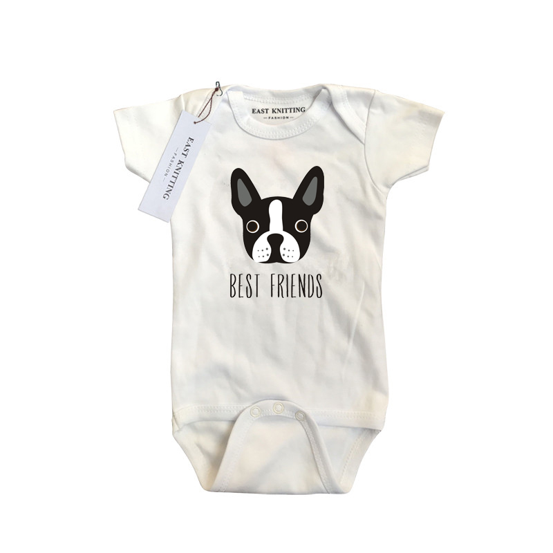 Baby Clothes Letter Printed Bodysuit Summer Boy Girls Clothes