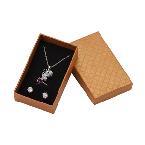 Image 3 - 32pcs Jewelry Box 8x5CM Necklace Ring Box for Jewelry Multi Colors  Jewelry Packaging Gift Boxes Earring Display Black Sponge