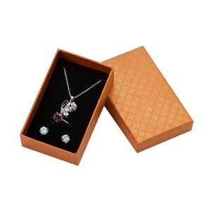 Image 3 - 32pcs Sieraden Doos 8x5CM Ketting Ring Box voor Sieraden Multi Kleuren Sieraden Verpakking Geschenkdozen Oorbel display Zwarte Spons