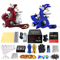 Solong Tattoo Complete Tattoo Kit 2 Professional Coil Machine Guns  Power Supply Foot Peda Needle Grips TK202-9