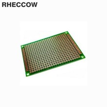 RHECCOW 50 шт. 5x7 см 5*7 см стекло-эпоксидный прототип и монтажная панель припоя универсальная печатная плата