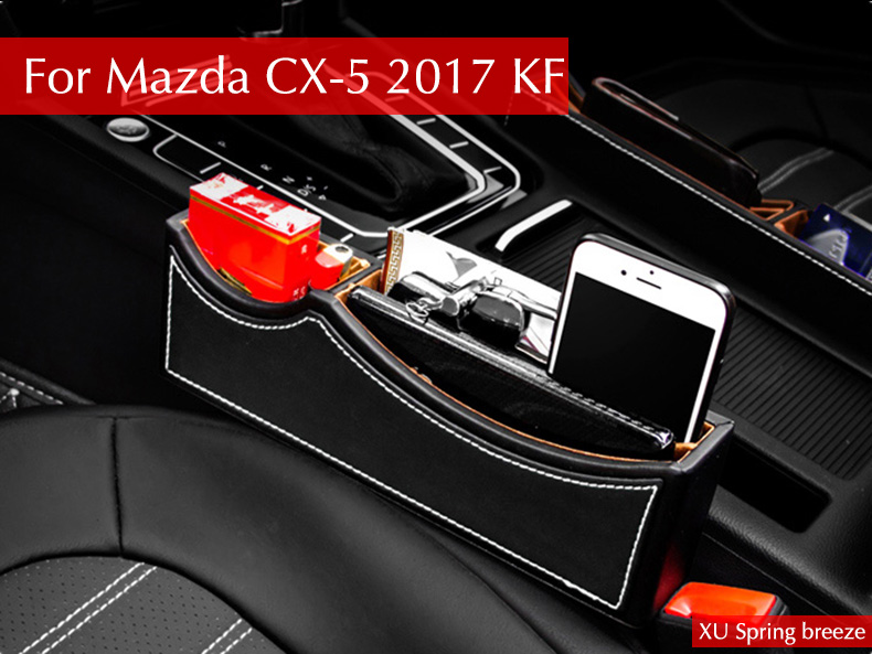 For Mazda CX-5 CX5 2015 2016 2017 2018 Car Seat Slit Gap Pocket Storage Glove Box Slot Box Interior Decoration Car-styling dnhfc interior door handle switch decorates sequins lhd for mazda cx 5 cx5 kf 2nd generation 2017 2018 car styling