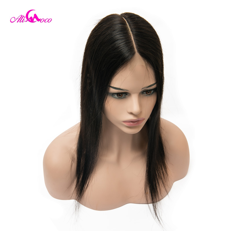Image 4 - Ali Coco Brazilian Straight 2*6 Lace Closure Human Hair Lace Closure  Middle Part 8 20 Inch Natural Color Remy Hair-in Closures from Hair Extensions & Wigs